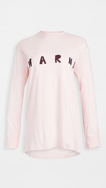 Marni Long Sleeve Crew Neck Shirt