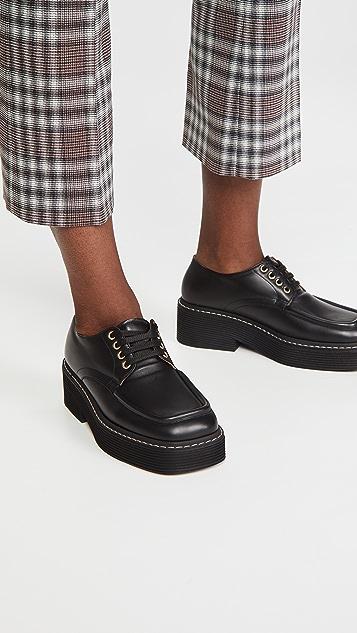 Marni 系带牛津鞋
