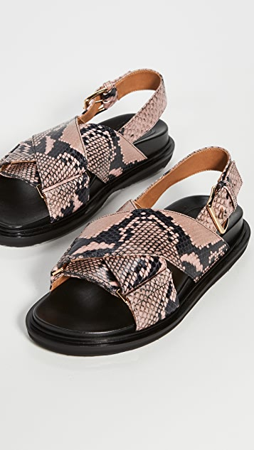 Marni Fussbett Crisscross Sandals