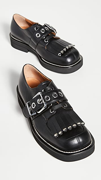 Marni Fringe Buckle Oxfords