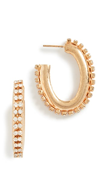 Marni 金属和仿钻耳环