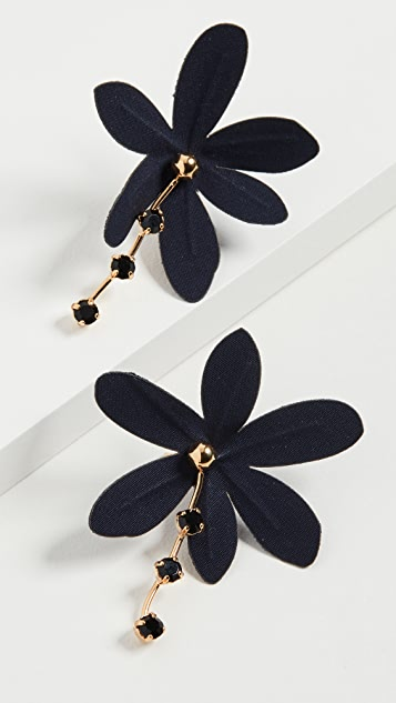 Marni Fabric and Metal Earrings