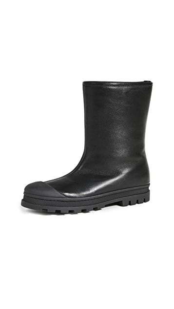 Marni 皮橡胶靴子