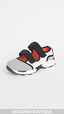 마르니 Marni Double Strap Sneakers,Ash/Natural White