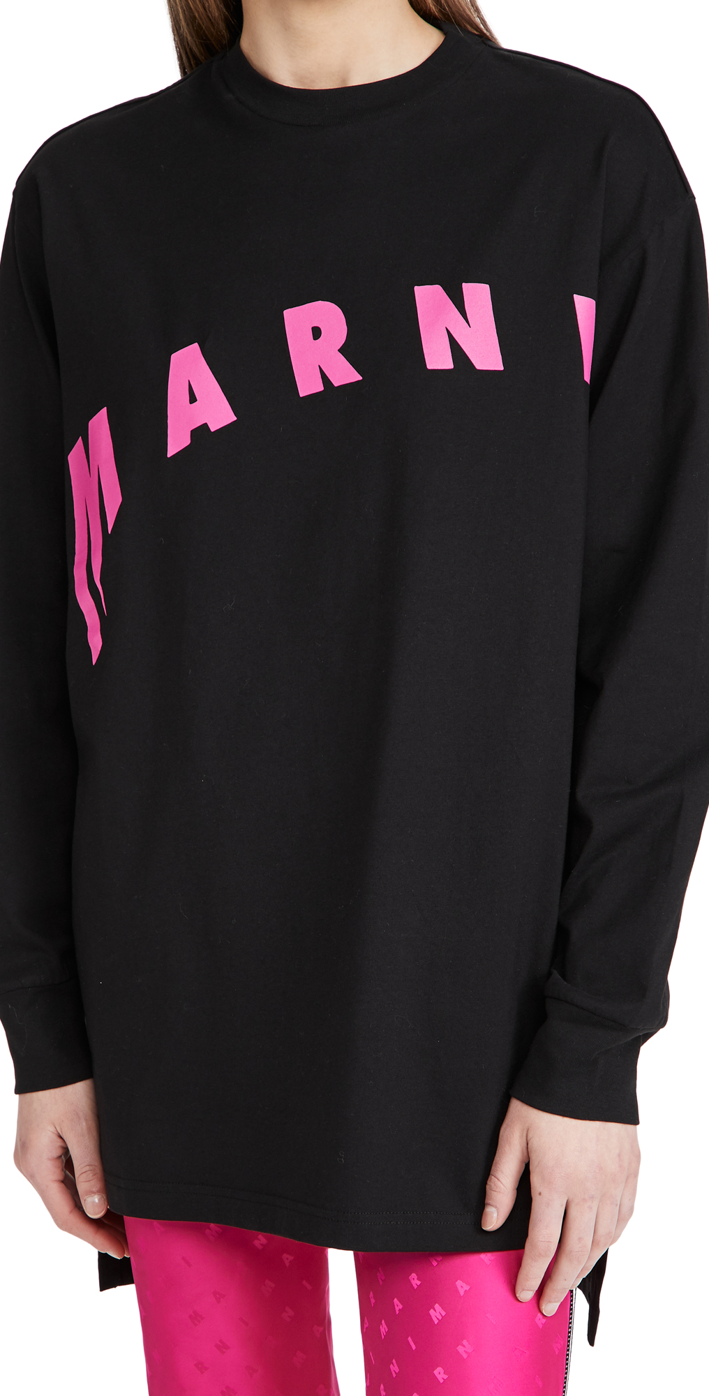 Marni Long Sleeve Crew Neck Tee