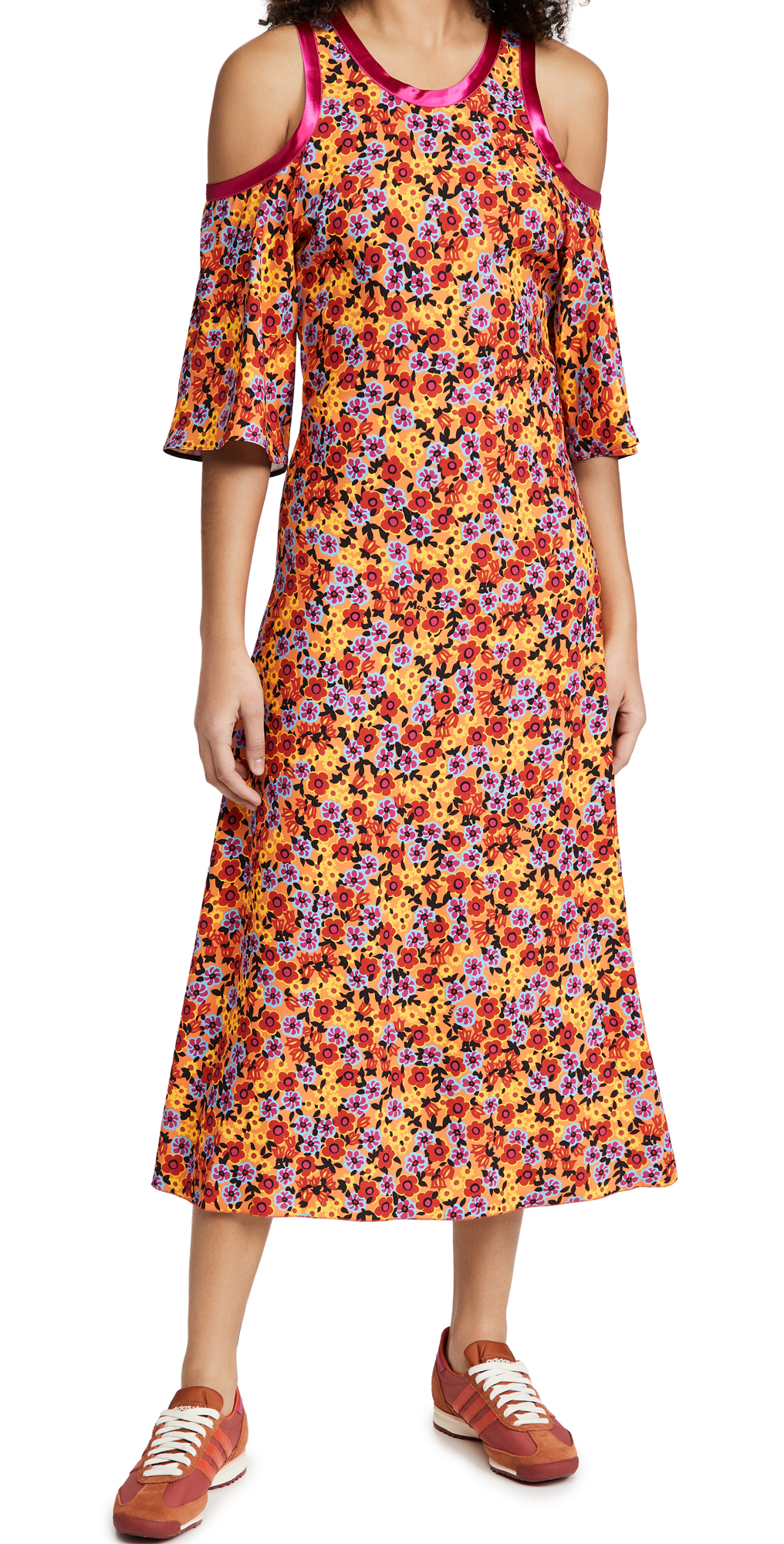 Marni Floral Cold Shoulder Dress