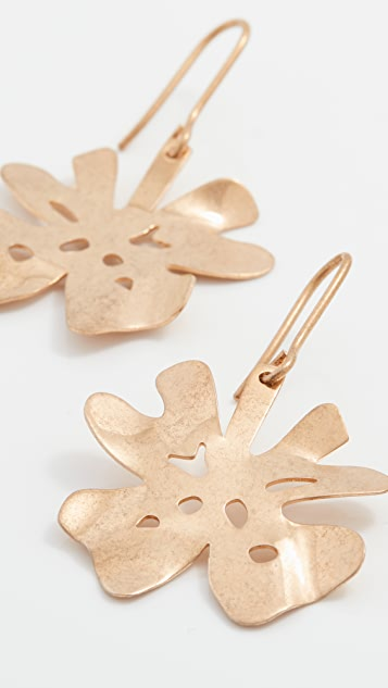Marni Clover Metal Earrings