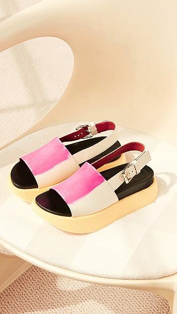Marni Raw Fussbett Sandals