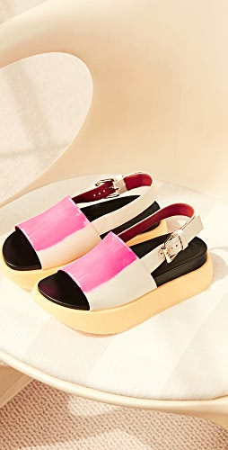 Marni - Raw Fussbett 凉鞋
