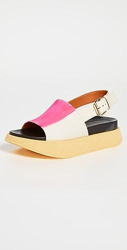 Marni - Raw Fussbett Sandals