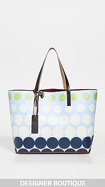 마르니 쇼핑백Marni E/W Shopping Bag,Iris Blue/Burgundy/Black