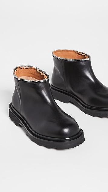 Marni 分层拉链靴