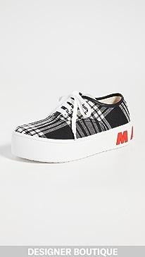 마르니 Marni Lace Up Sneakers,Black