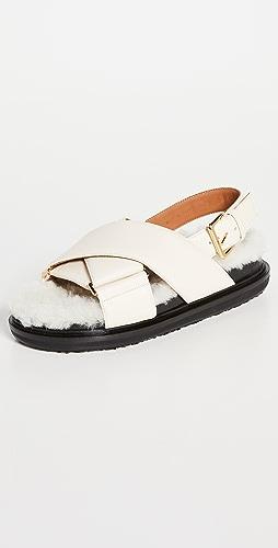 Marni - Crossed Fussbett Sandals