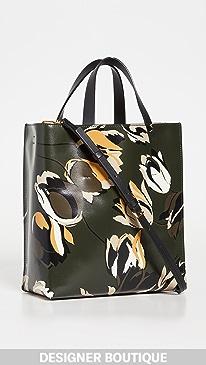 마르니 뮤제오백 스몰 Marni Museo Soft Small Bag,Juniper+Burgundy+Black