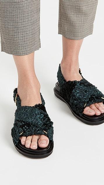 Marni Fusbett Curly 凉鞋