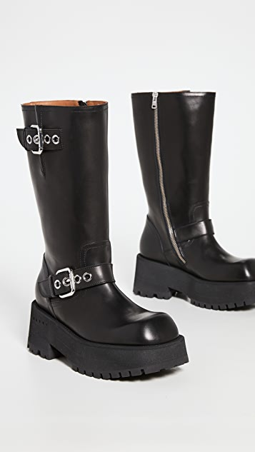 Marni Biker Buckle Boots