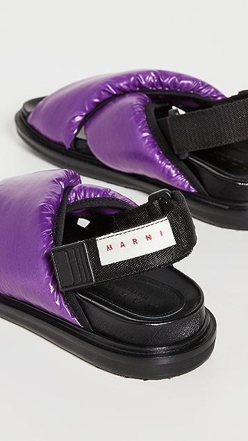 Marni Fussbett Nylon Sandals