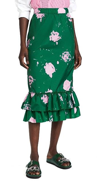 Marni 扎染波点半身裙
