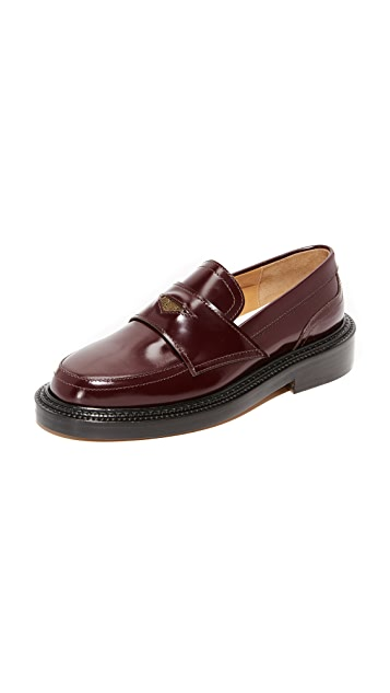 Maison Margiela Leather Platform Loafers Gr. IT 38.5 7hSoPTNGp