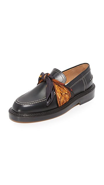 Maison MargielaLeather Loafers with Chain Gr. EU 42