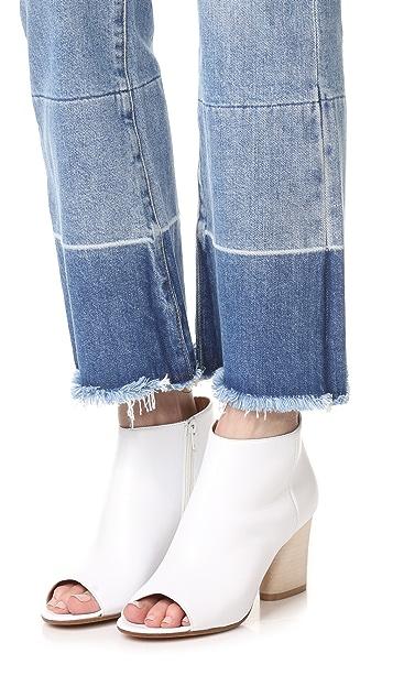 Maison Margiela Peep Toe Ankle Boots