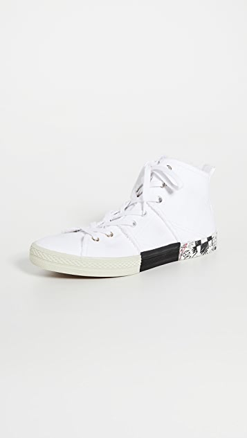 Maison Margiela Layered High Top Sneakers