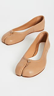 Maison Margiela Faux Leather Tabi Flats