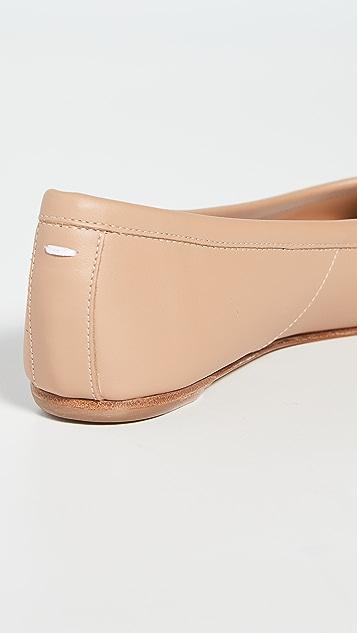 Maison Margiela Faux Leather Tabi Flats