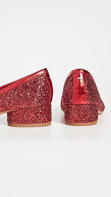 Maison Margiela Tabi Glitter Pumps