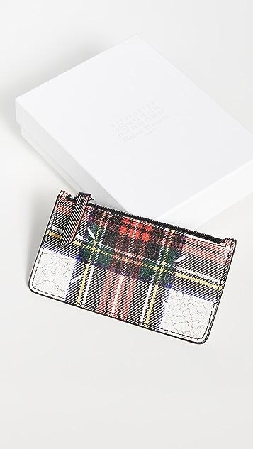 Maison Margiela 印花裂纹皮钱包