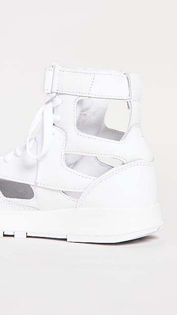 Maison Margiela MM x Reebok Classic Leather Tabi High-Top Sneakers
