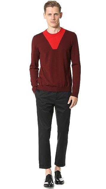 Marni Intarsia Detail Sweater