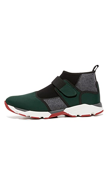 Marni Neoprene Pull On Sneakers