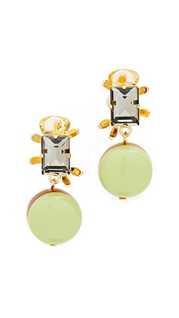 Marni Clip On Earrings with Resin