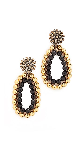 Marni Clip On Earrings with Strass