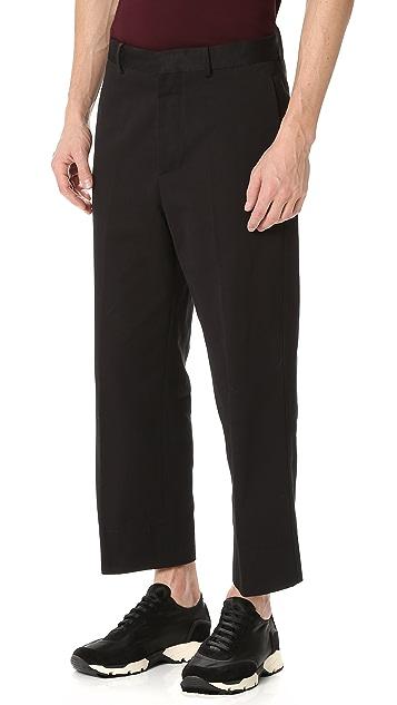 Marni Washed Cotton Gabardine Pants