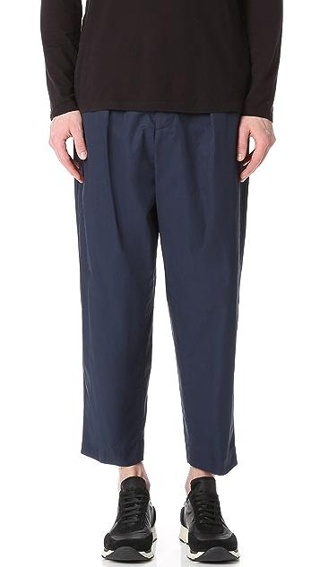 Marni Light Washed Cotton Twill Drawstring Pants