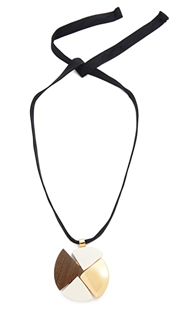 Marni Wood Pendant Necklace