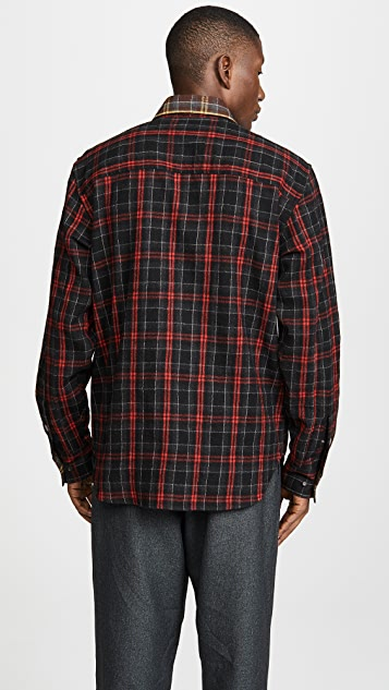 Marni Reversible Overcheck Flannel Shirt