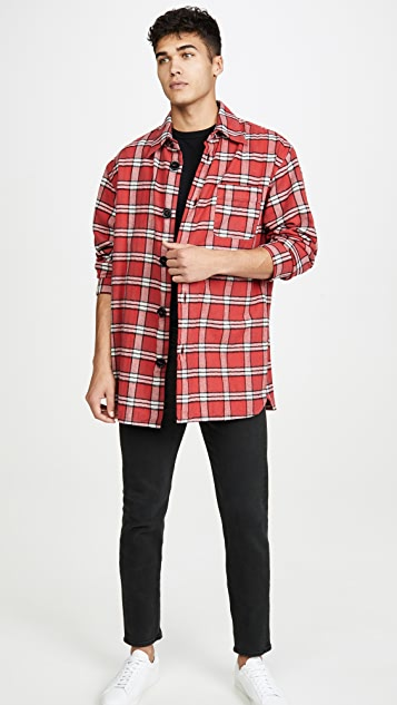 Marni Brushed Cotton Check Long Sleeve Shirt