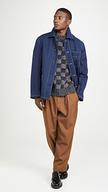Marni Tropical Wool Carrot Fit Trousers