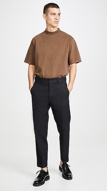 Marni Patterned Pinstripe Wool Trousers