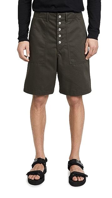 Marni Workwear Gabardine Shorts