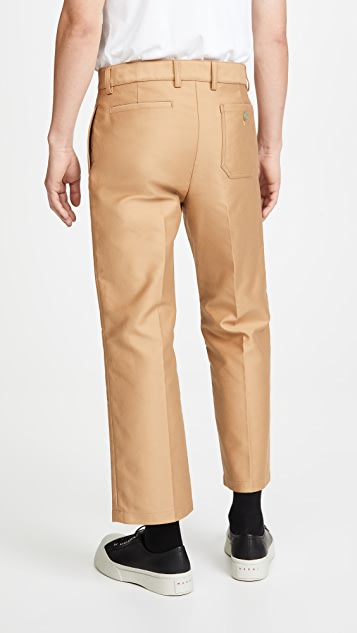 Marni Compact Moleskin Satin Pants