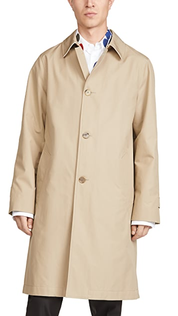 Marni Compact Cotton Reps Trench Coat