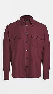 Marni Tropical Wool Tornado Embroidered Button Shirt