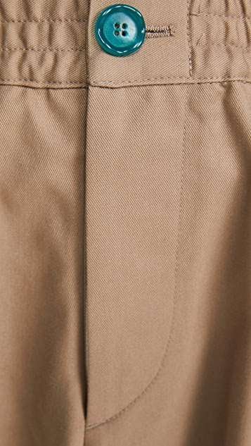 Marni Workwear Gabardine Carrot Fit Trousers