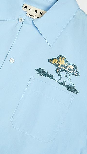 Marni Tornado Print Short Sleeve Shirt