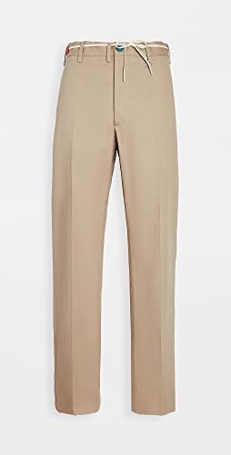 Marni - Workwear Gabardine Belted Trousers